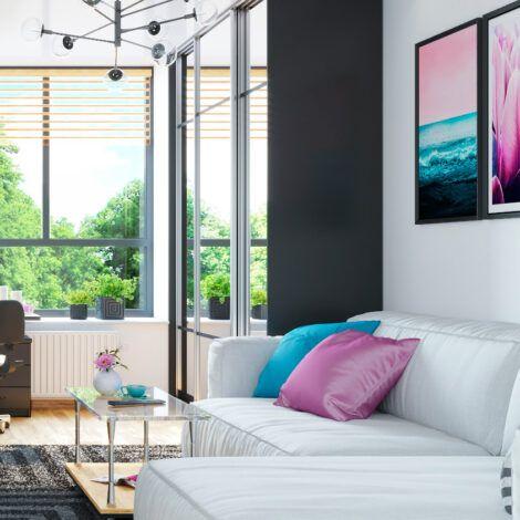 Візуалізація житлової кімнати. Натисніть для збільшення