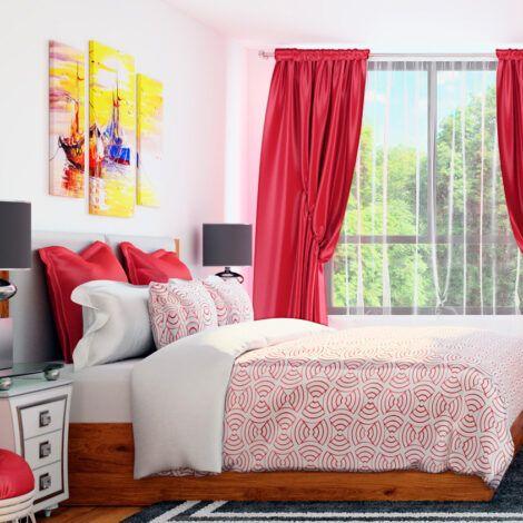 Візуалізація спальні. Натисніть для збільшення