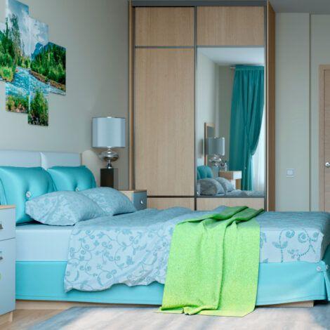 Візуалізація спальні. Натисніть для збільшення.